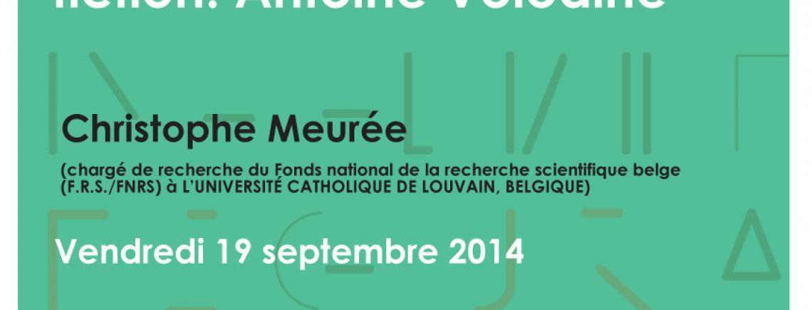 Affiche - Conférence de Christophe Meurée