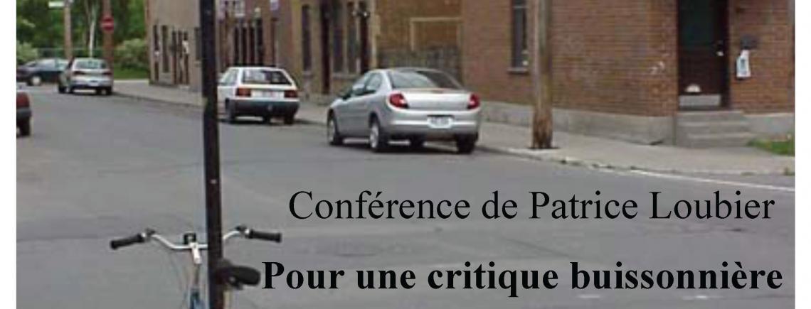 Conférence Patrice Loubier