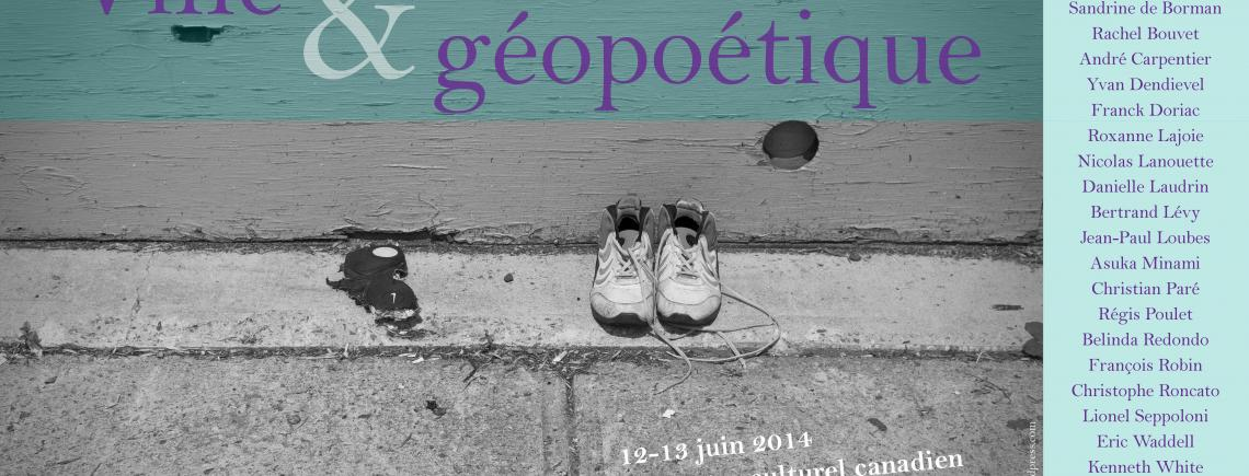 Affiche - Colloque international « Ville & géopoétique »