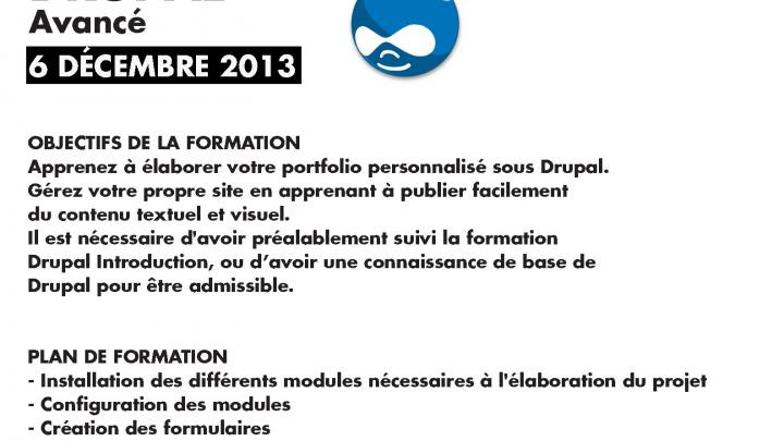 Affiche - Formation Drupal