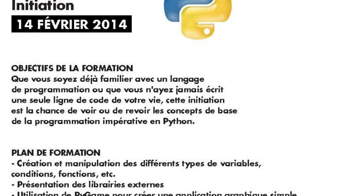 Affiche - Formation «Python - initiation»